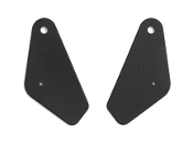 1968 AMC AMX / Javelin Black Inner Seat Hingle Covers