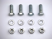 1968-69 AMC AMX / Javelin Trans. Mount To Crossmember Bolts/Nuts