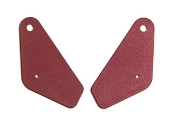 1968 AMC AMX / Javelin Red Inner Seat Hinge Covers